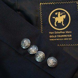 Hart Schaffner Marx Gold Trumpeter Wool Jacket